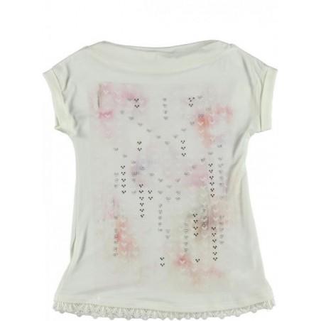 Sarabanda 0I650 T-shirt lunga ragazza