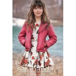 Sarabanda 0N461 Leather-like jacket edged girl