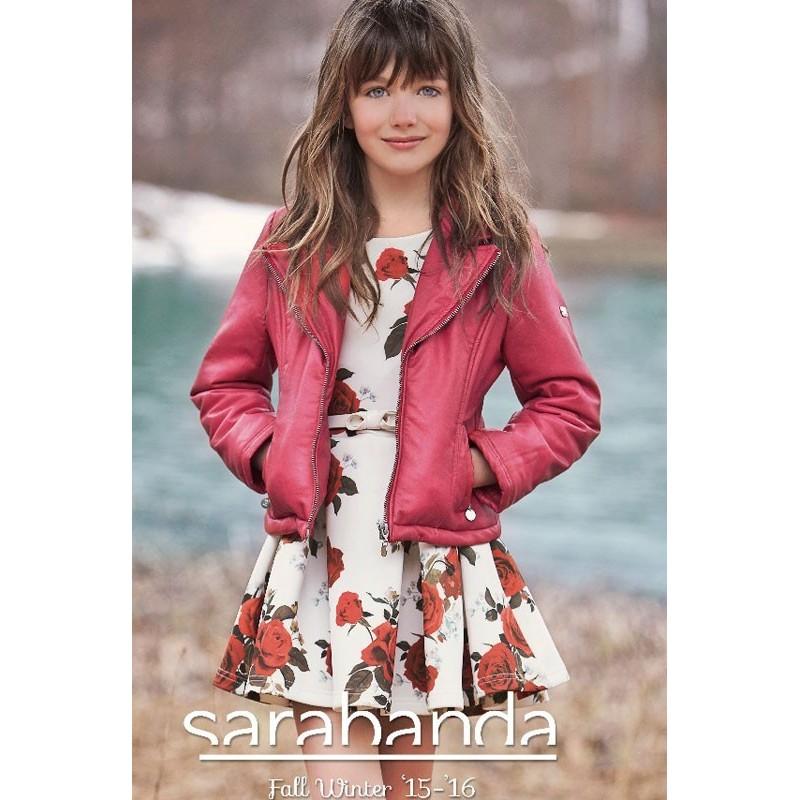 Sarabanda 0N461 Giubbetto similpelle bordò ragazza