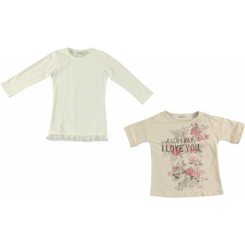 Sarabanda 0N484 T-shirt doppia ragazza