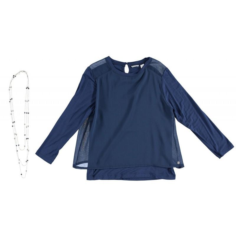 Sarabanda 0S450 Camicetta blu ragazza