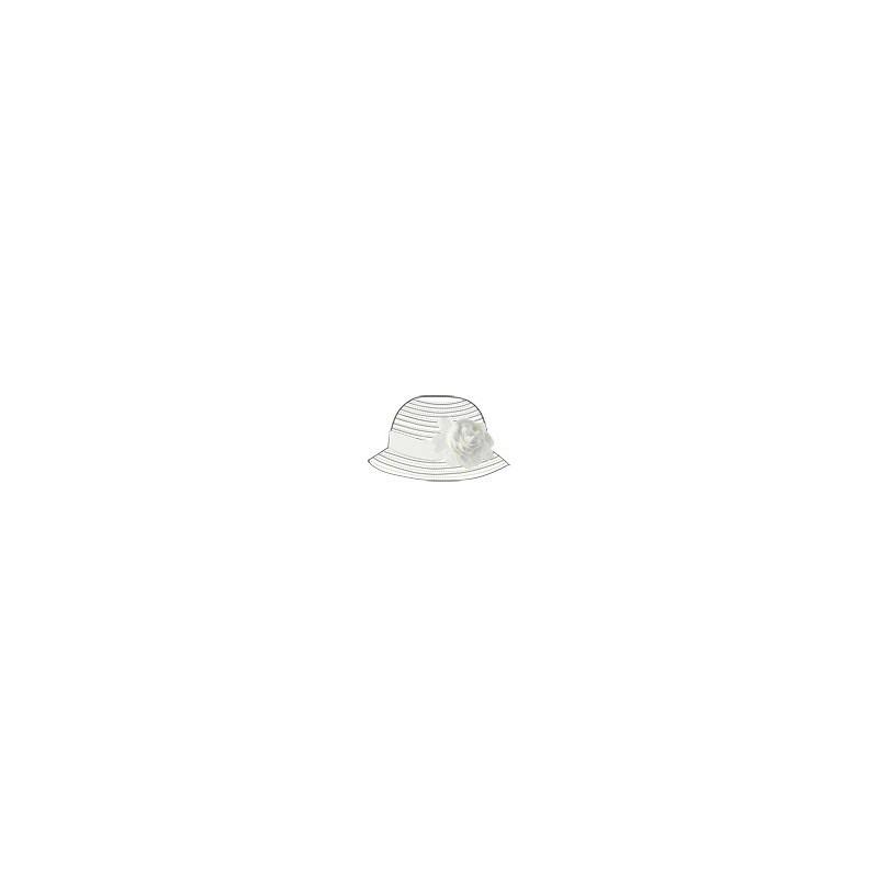 Sarabanda 0S820 Girl White Bow Hat