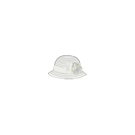 Sarabanda 0S820 Cappello fiocco bianco bambina