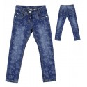 Sarabanda 0L473 Jeans stretch slim fiorato bambina