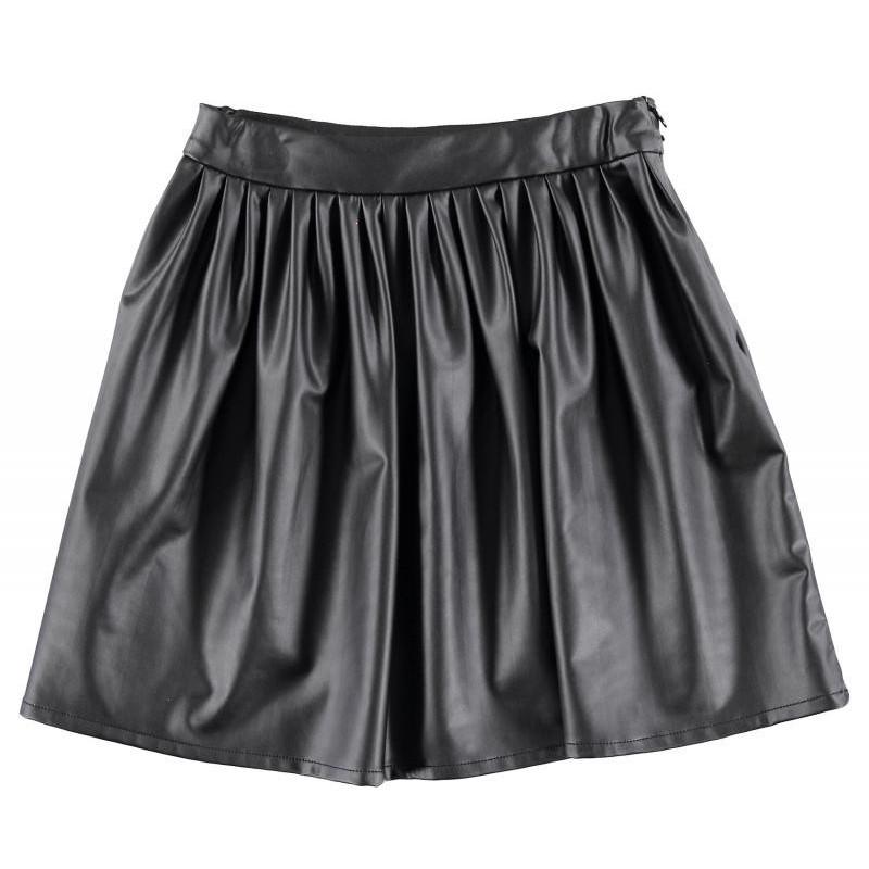 Sarabanda 0T450 Girl Faux Leather Skirt