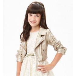 Sarabanda 0U463 Coat faux leather girl