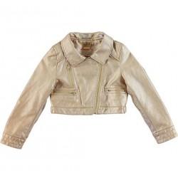 Sarabanda 0U463 Coat faux leather girl
