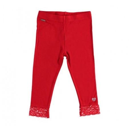 Sarabanda 0U213 Girls' Red Leggings