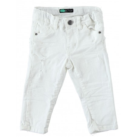 Sarabanda 0U156 Jeans bianco bambino