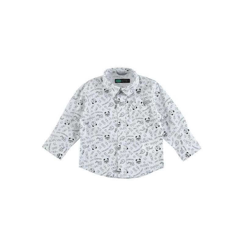 Sarabanda 0U115 Children's patterned shirt