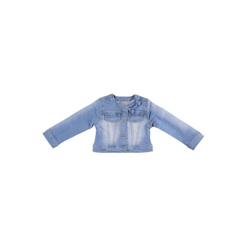 Sarabanda 0U238 Giubbetto jeans chiaro bambina