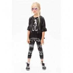 Sarabanda 0U693 Faux leather jacket girl