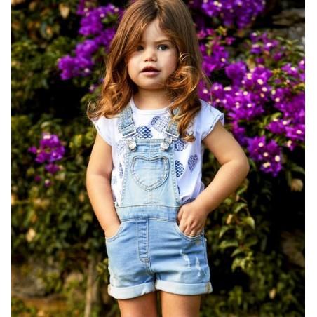 Sarabanda DU082 Salopette corta bambina