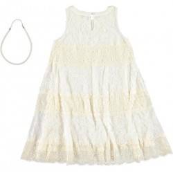 Sarabanda 0U694 Girl Cream Dress