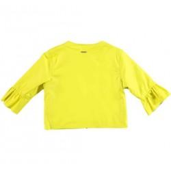 Sarabanda 0U693 Faux leather jacket yellow girl