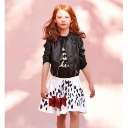 Sarabanda 0U461 Faux leather jacket girl