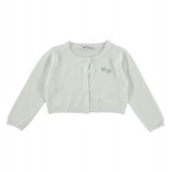 Sarabanda 0S244 Coprispalle tricot panna bambina