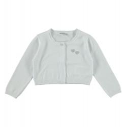 Sarabanda 0S244 Coprispalle tricot bianco bambina