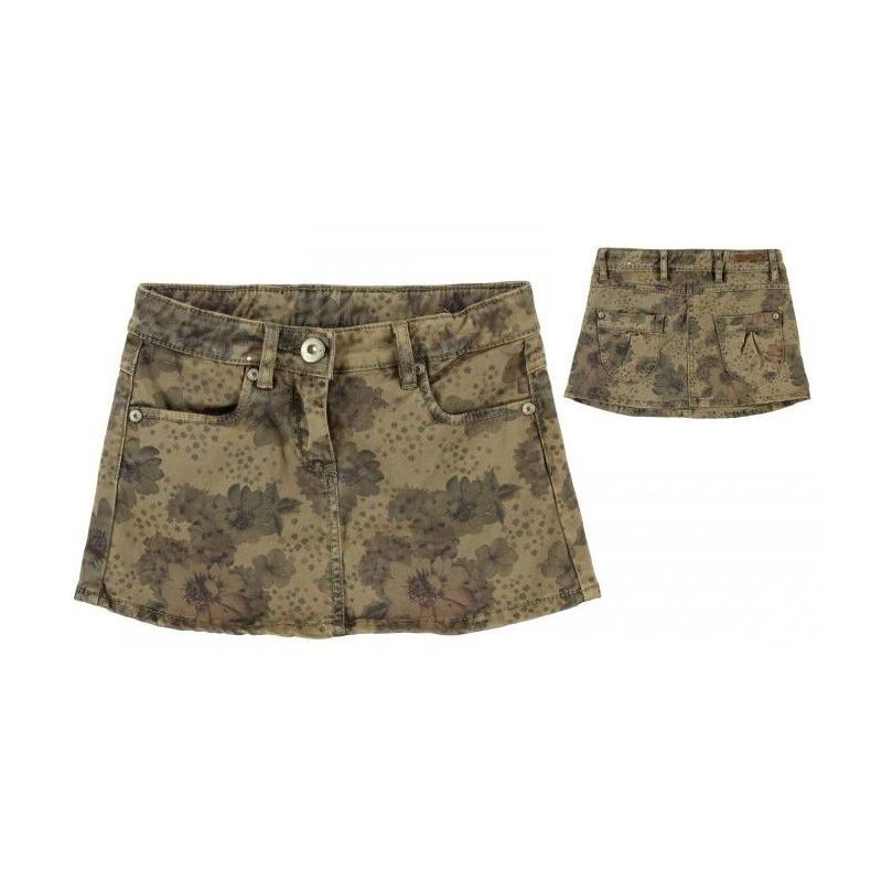 0L408 Patterned miniskirt