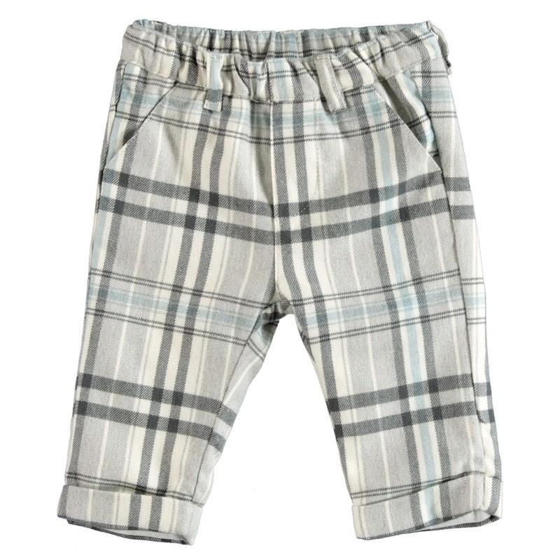 Minibanda 3V649 Pantalone scacchi neonato
