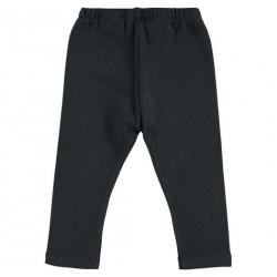 Sarabanda 0V239 Leggings felpato nero bambina