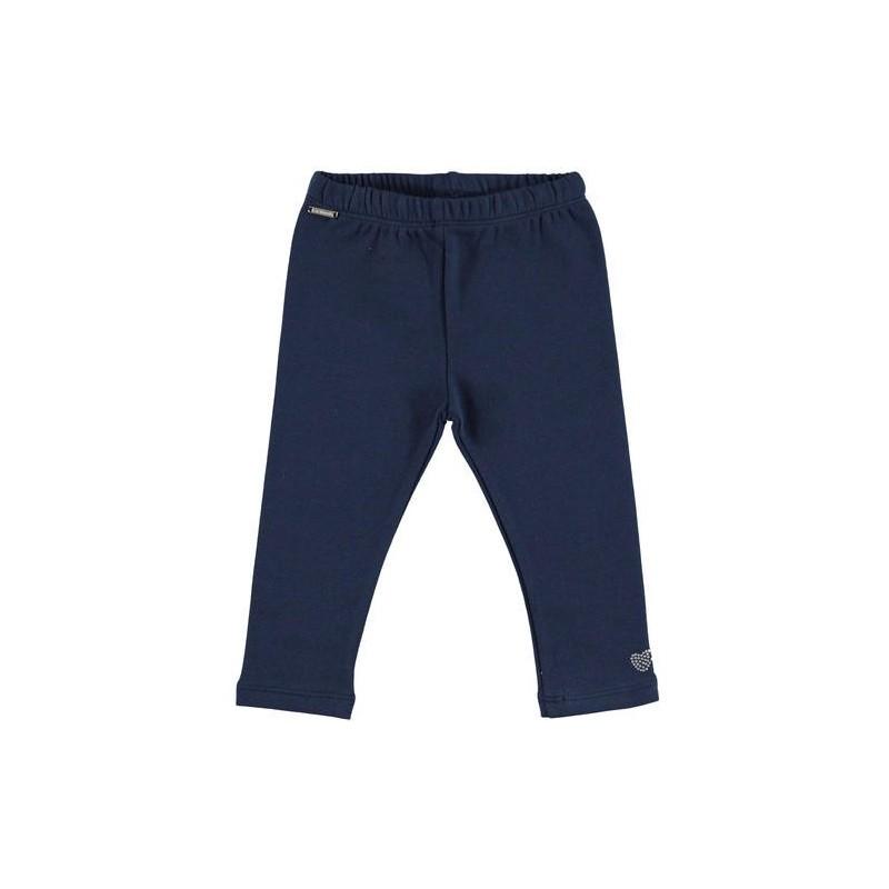 Sarabanda 0V239 Leggings felpato blu bambina