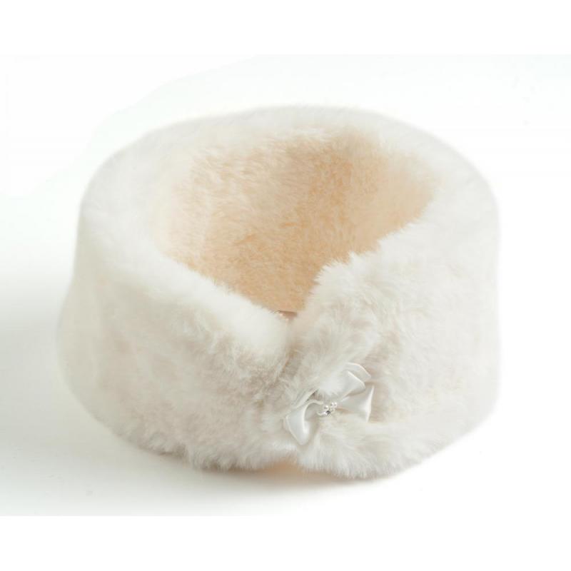 Sarabanda 0R036 Girl's Eco-Fur Neck