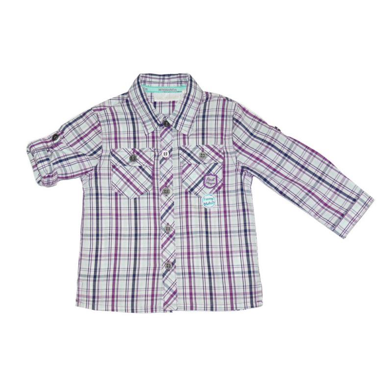 Minibanda 3G630 Newborn Chess Shirt