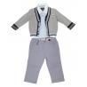 Sarabanda Stylish Baby Grey Suit Tg. 12 Months