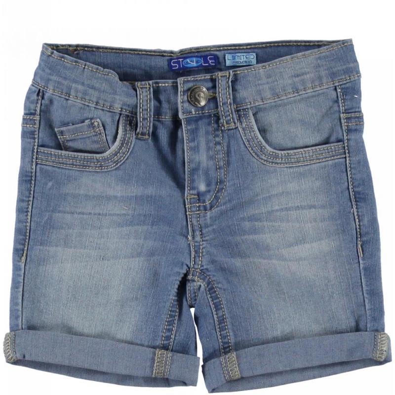 Sarabanda 0Q537 Bermuda light jeans baby