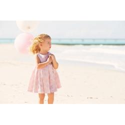 Sarabanda 0Q239 Abito rosa elegante bambina