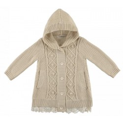 0L260 Long cardigan with hood