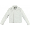 Sarabanda 0Q482 White Faux leather jacket girl