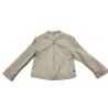 Sarabanda 0Q264 Baby Beige Faux Leather Jacket