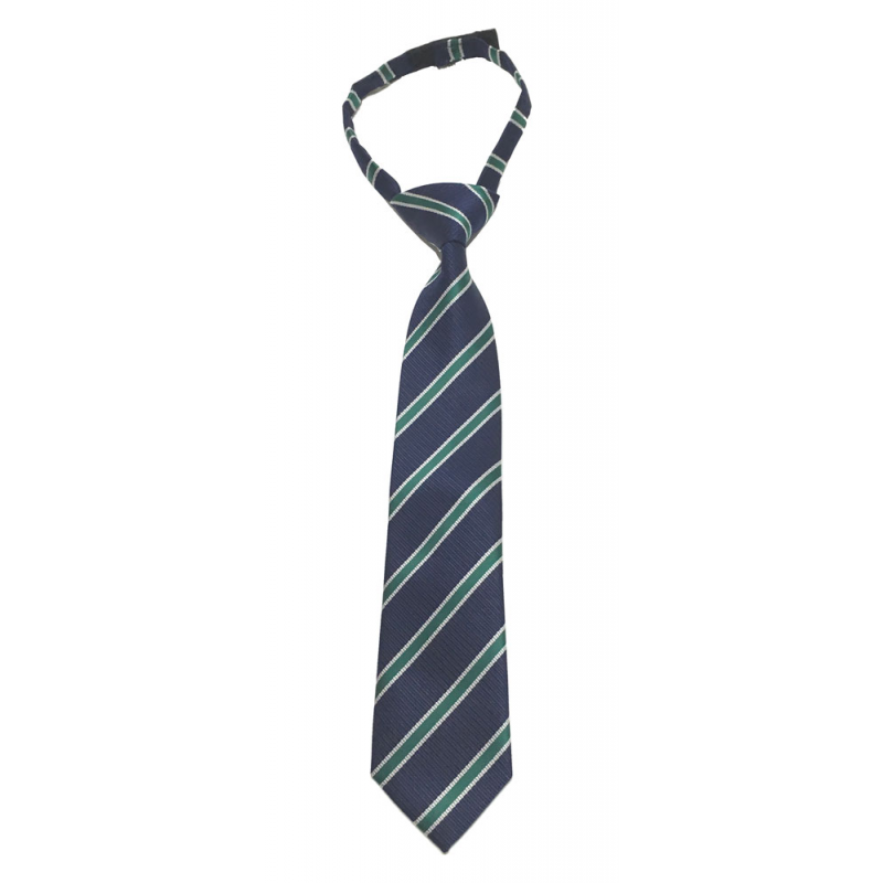 Sarabanda 0M008 Cravatta regimental verde bambino