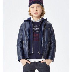 Sarabanda 0V363 Boy Faux Leather Jacket