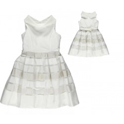 Sarabanda 0I910 Elegant white girl dress