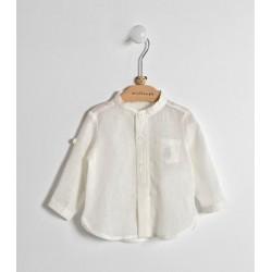 Minibanda 3W615 Camicia panna neonata