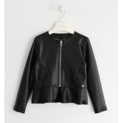Sarabanda 0K429 Girl Faux Leather Jacket