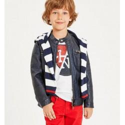 Sarabanda 0J335 Coat faux leather boy