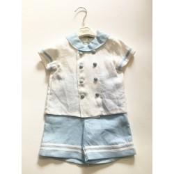 Aletta CM 3324 Newborn Navy Suit