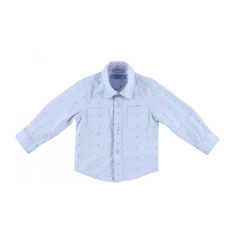 Sarabanda 0M111 Camicia celeste bambino