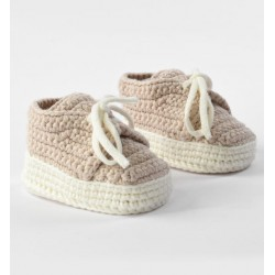 Minibanda 32308 Scarpine tricot newborns