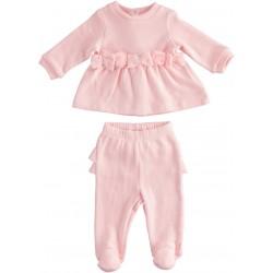 Minibanda 33700 Tutina tricot due pezzi neonata