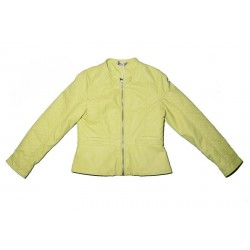 Sarabanda 0M471 Acid green jacket similar to girl leather