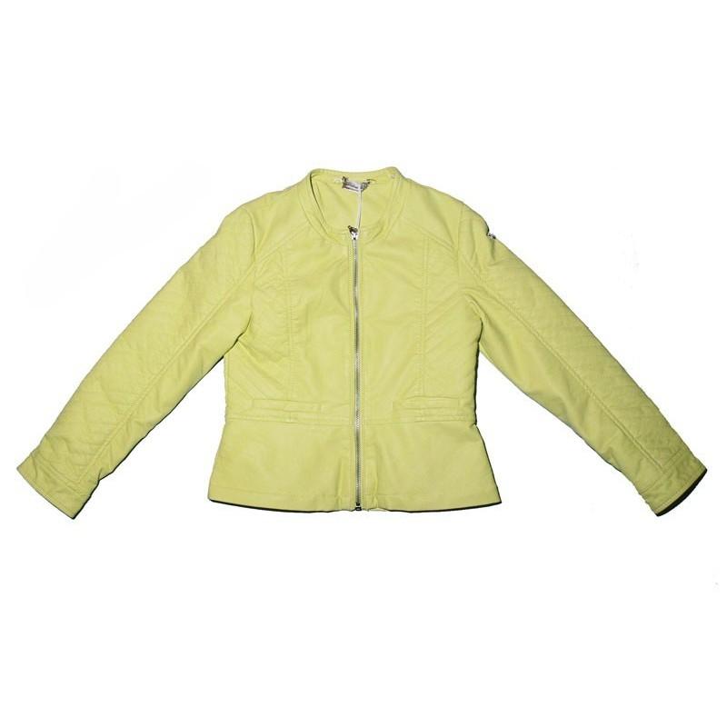 Sarabanda 0M471 Acid green jacket similar to girl leather